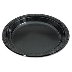 GNPBLK10 - Silhouette Black Plastic Dinnerware