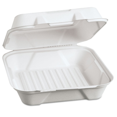 GNPHF200 - Genpak® Harvest® Fiber Hinged Containers