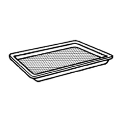 GNPW1004S-BK - Supermarket Trays