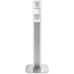 GOJ7306DSSLV - PURELL® MESSENGER™ ES6 Silver Panel Floor Stand with Dispenser
