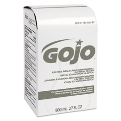 GOJ9212-12 - GOJO® Ultra Mild Antimicrobial Lotion Soap 800 mL Bag In Box Refills with Pcmx
