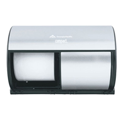 GPC56796 - Professional Compact® Coreless Brushed Steel Side-by-Side Double Roll Tissue Dispenser