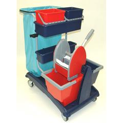 GPS101C - GeerpresIdeabase Modular Plastic Cart - 101 Base Unit With Bucket And Wringer Combo