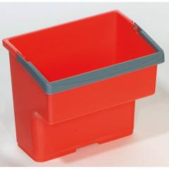 GPS23020R - GeerpresTop Bucket, Red - 4 Liter For Modular Plastic Housekeeping Carts