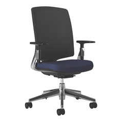 HON2283VA90PA - Lota Mesh Mid-Back Task Chair with Weight Activated Tilt & Polished Finish