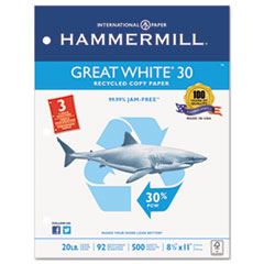 HAM86702 - Hammermill® Great White Recycled Copy Paper