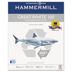 HAM86790 - Hammermill® Great White® 100 Recycled Copy Paper