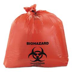 HERA8046ZR - Heritage Bag® Healthcare Biohazard Printed Can Liners, 40-45 gal