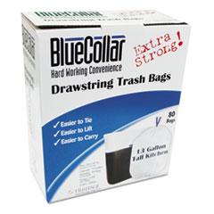 HERN4828EWRC1 - Heritage Bag® BlueCollar Drawstring Trash Bags