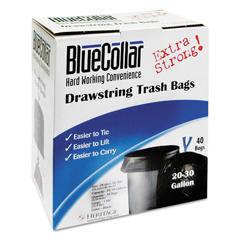 HERN6034YKRC1CT - BlueCollar Drawstring Trash Bags