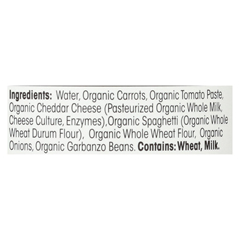 HGR0127829 - Earth's BestOrganic Spaghetti with Cheese Baby Food - Stage 3 - Case of 12 - 6 oz.
