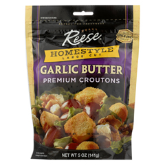 HGR0171926 - Reese - Croutons Homestyle Garlic Butter - - Case of 12 - 5 oz.