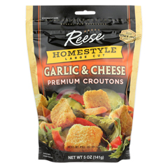 HGR0171942 - Reese - Whole Grain Croutons - Garlic and Cheese - Case of 12 - 5 oz.