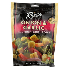 HGR017207 - ReesePremium Croutons - Onion and Garlic - Case of 12 - 6 oz.