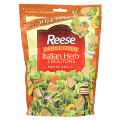 HGR0172197 - ReeseWhole Grain Croutons - Italian Herb - Case of 12 - 5 oz.