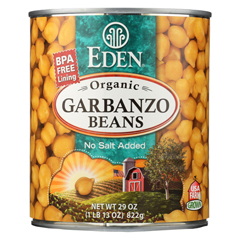 HGR0199018 - Eden FoodsOrganic Garbanzo Beans - Case of 12 - 29 oz.