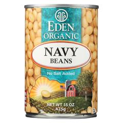 HGR024930 - Eden FoodsNavy Beans - Organic - Case of 12 - 15 oz.