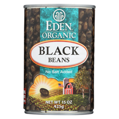 HGR0260604 - Eden FoodsOrganic Black Beans - Case of 12 - 15 oz.