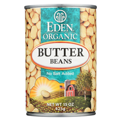HGR0289991 - Eden FoodsButter Beans Organic - Case of 12 - 15 oz.