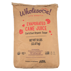 HGR0302513 - Wholesome SweetenersCane Sugar - Organic and Natural - Case of 50 - 1 lb.