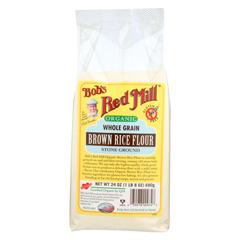 HGR0354795 - Bob's Red Mill - 100% Organic Brown Rice Flour - Case of 4 - 24 oz.