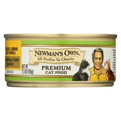 HGR0378752 - Newman's Own OrganicsPremium Cat Food - Chicken and Brown Rice - Case of 24 - 5.5 oz.
