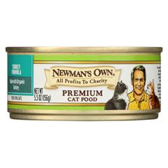 HGR0378794 - Newman's Own OrganicsAdult Turkey Formula Canned Cat Food - Organic - Case of 24 - 5.5 oz.