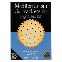 HGR0399436 - Natural NectarMediterranean Crackers - Olive - Case of 12 - 3.7 oz.