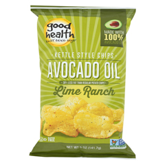 HGR0403584 - Good HealthKettle Chips - Avocado Oil Lime Ranch - Case of 12 - 5 oz.