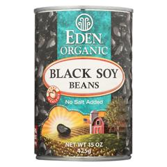 HGR0544585 - Eden FoodsOrganic Black Soy Beans - Case of 12 - 15 oz.