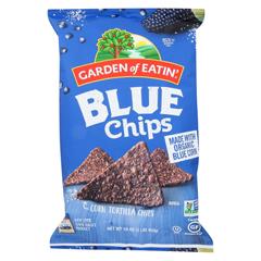 HGR0562942 - Garden of Eatin'Blue Corn Tortilla Chips - Blue Corn - Case of 12 - 16 oz.
