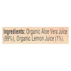 HGR060890 - LakewoodOrganic Aloe Juice - Pure - Fresh Pressed - Inner Fillet - with Lemon - 12.5 oz.