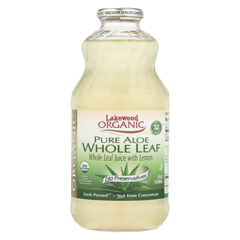 HGR060973 - Lakewood - Organic Aloe Juice - Whole Leaf - Fresh Pressed - with Lemon - 32 oz.