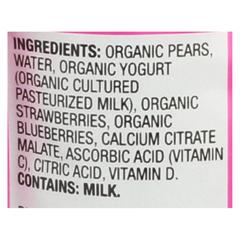 HGR0636571 - Earth's Best - Organic Fruit Yogurt Smoothie - Mixed Berry - Case of 12 - 4.2 oz.
