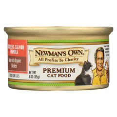 HGR0692210 - Newman's Own OrganicsCat Food - Chicken and Salmon - Case of 24 - 3 oz.