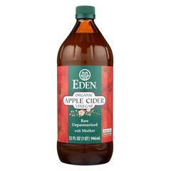 HGR0756502 - Eden Foods100% Organic Unfiltered Apple Cider Vinegar - Case of 12 - 32 fl oz.