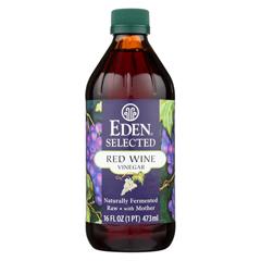 HGR076041 - Eden Foods - Raw Unfiltered Red Wine Vinegar - Case of 12 - 16 fl oz.