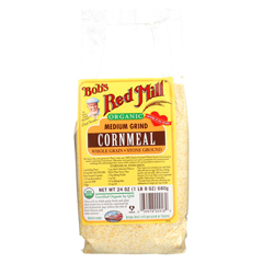 HGR0902817 - Bob's Red MillOrganic Medium Grind Cornmeal - 24 oz. - Case of 4