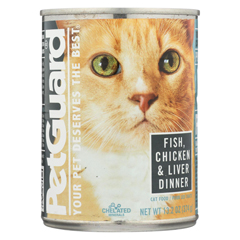HGR0926550 - PetGuardCats Food - Fish, Chicken and Liver - Case of 12 - 13.2 oz.