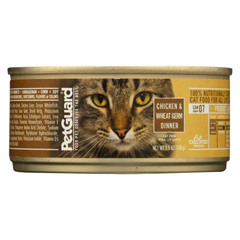 HGR0939793 - PetGuardCats Food - Chicken and Wheat Germ Dinner - Case of 24 - 5.5 oz.