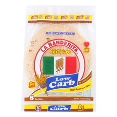 HGR0102319 - La Banderita - Soft Taco - Low Carb - Case of 12 - 12.8 oz..