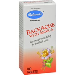 HGR0105130 - Hyland'sBackache With Arnica - 100 Tablets