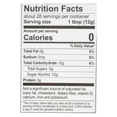 HGR01055623 - Wholesome SweetenersSweetener - All Natural - Calorie Free - Zero - Pouch - 12 oz. - case of 8
