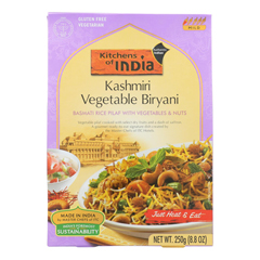 HGR0106229 - Kitchen Of India - Kashmiri Vegetable Biryani - Case of 6 - 8.8 oz.