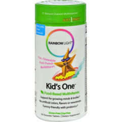 HGR0107714 - Rainbow LightKids One MultiStars Fruit Punch - 30 Chewable Tablets