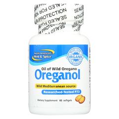 HGR0108795 - North American Herb and SpiceOreganol Oil of Wild Oregano - 60 Gelatin Capsules