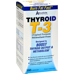 HGR0108936 - Absolute NutritionThyroid T-3 - 180 Capsules