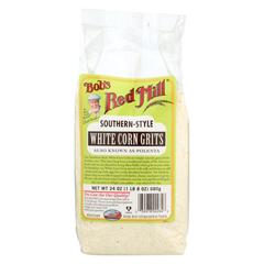 HGR01151521 - Bob's Red MillWhite Corn Grits / Polenta - 24 oz. - Case of 4