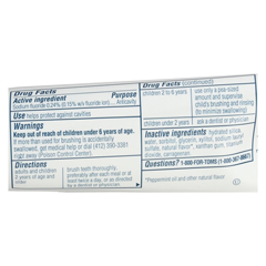 HGR01156892 - Tom's Of MaineTravel Natural Toothpaste - Fresh Mint, Fluoride - Case of 24 - 3 oz.