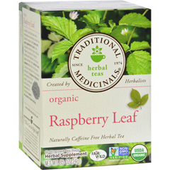 HGR0117747 - Traditional Medicinals - Organic Raspberry Leaf Herbal Tea - 16 Tea Bags - Case of 6